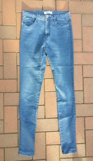 Only Slim jeans staalblauw Gemengd weefsel
