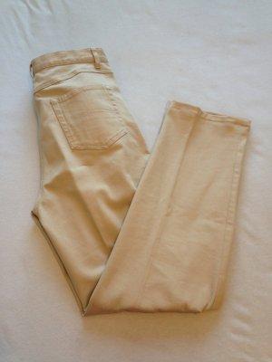 schlichte Hose in beige