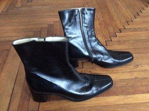 schlichte italienische retro Lederstiefel