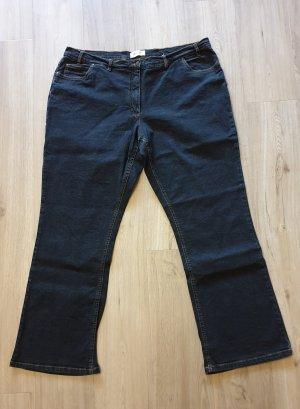 Schlichte schwarze 5-Pocket Damen Jeans  Größe 52