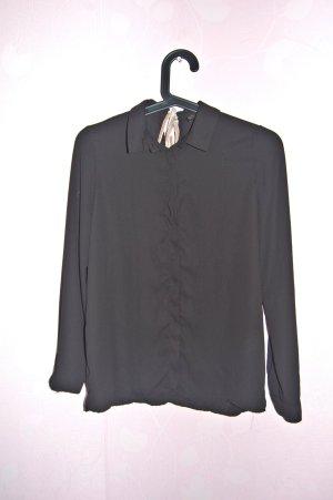 schlichte, schwarze Bluse, Größe 34 von Zara
