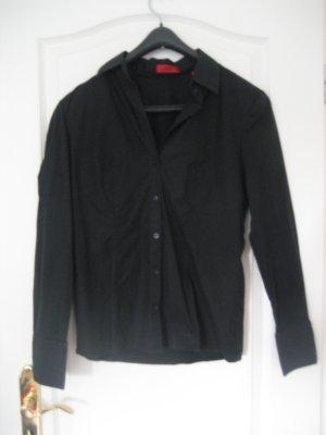schlichte schwarze Bluse Hugo Gr. 38