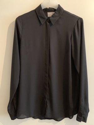 Schlichte schwarze Bluse von Asos