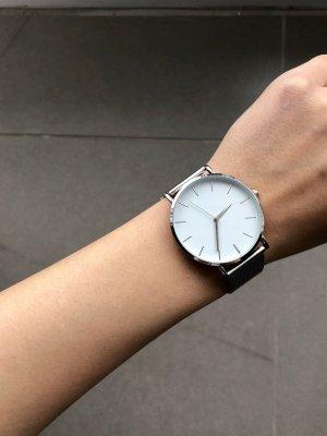 Orologio con cinturino di metallo bianco-argento