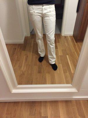 Schlichte weiße Hose in Jeansoptik
