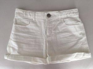 Schlichte weiße Short