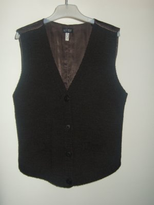 Armani Jeans Knitted Vest dark brown mixture fibre