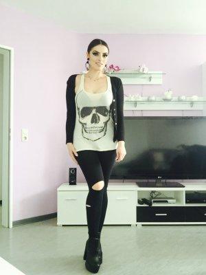 schlichter basic cardigan in schwarz