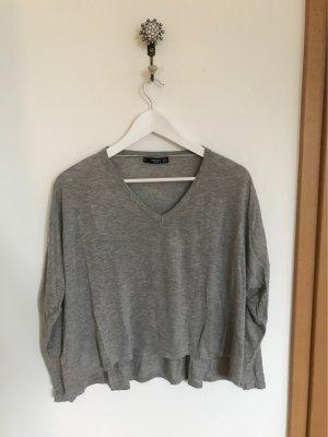 Mango Basics Cardigan en maille fine gris clair-gris