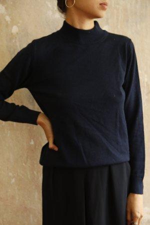 Vintage Wool Sweater dark blue merino wool