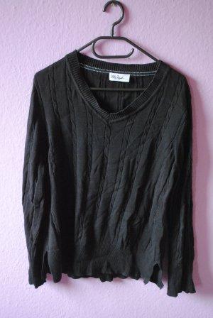 Schlichter Pullover in schwarz
