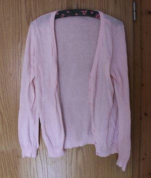 Schlichter rosa Cardigan, Gr. M