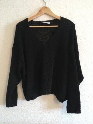 Zara Coarse Knitted Sweater black