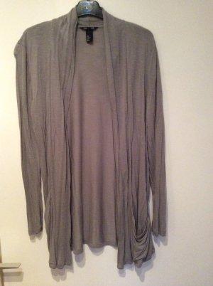 schlichter Wasserfall Cardigan in hellen grau von H&M