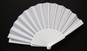 Hand Fan white mixture fibre