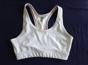 Schlichter weißer Sport-BH von H&M