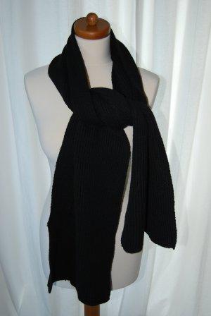 schlichter Wollschal / Schal in schwarz