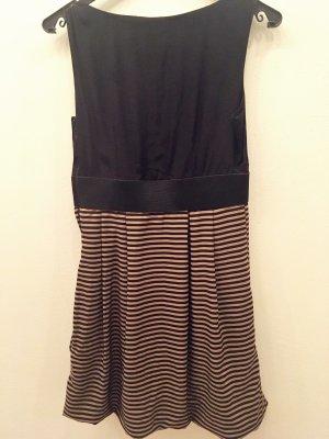 H&M Balloon Dress oatmeal-black viscose