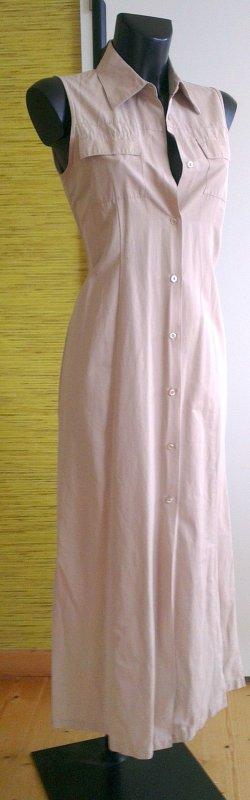 Schlichtes beiges Sommerkleid von Tom Tailor Gr.38