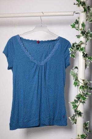 Schlichtes blaues S.Oliver Shirt