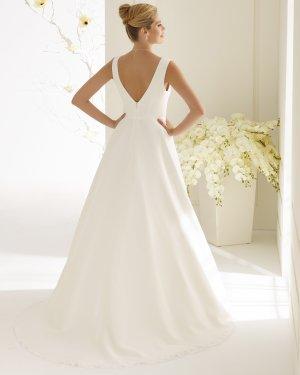schlichtes Brautkleid Hochzeitskleid aus Chiffon - ivory Gr. 38 NEU mit Etikett