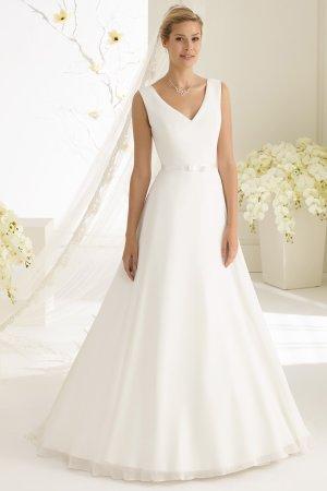 schlichtes Brautkleid Hochzeitskleid aus Chiffon - ivory Gr. 40 NEU mit Etikett