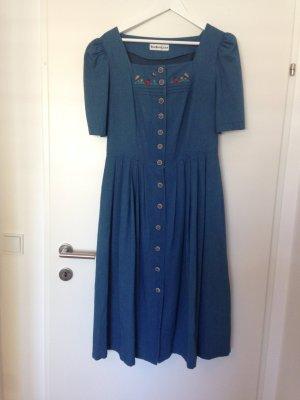 Midi Dress blue linen