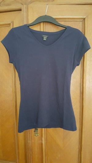 Schlichtes dunkelblaues T-Shirt, Größe M