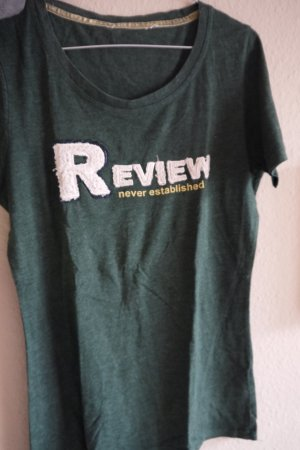 Review T-shirt verde bosco-bianco