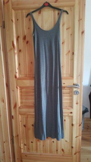 Schlichtes graues bodenlanges Kleid