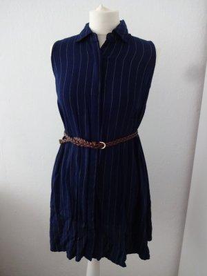 schlichtes Hemdkleid marineblau
