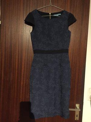 Robe crayon noir-bleu foncé