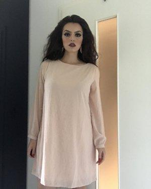 schlichtes kleid in pastell/nude rosa