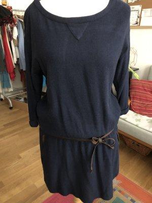 Esprit Wollen jurk donkerblauw-bruin