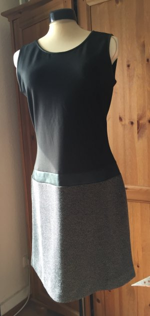 Schlichtes Kleid von Tom Tailor schwarz grau Kunstleder