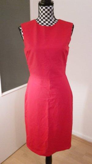 schlichtes rotes Etuikleid von Zara Gr.38