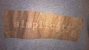 "schlichtes Shirt ""simplicity"""