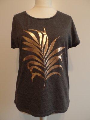 schlichtes T-Shirt mit Kupfer-Print, Gr. L, Only