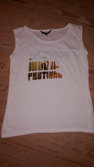 Schlichtes T-Shirt mit Schriftzug