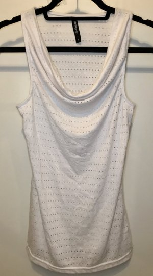 Cowl-Neck Shirt white