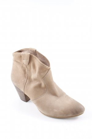Schlüpf-Stiefeletten camel-dunkelbraun Boho-Look