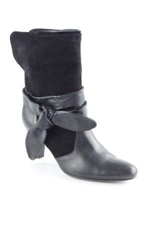 Schlüpf-Stiefeletten schwarz Elegant