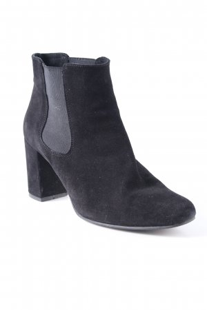 Schlüpf-Stiefeletten schwarz klassischer Stil