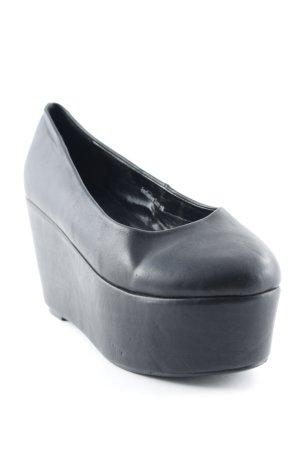 Zapatos sin cordones negro estilo fiesta
