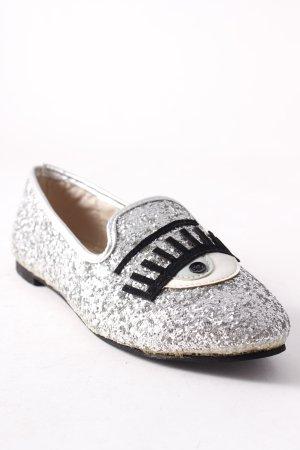 Scarpa slip-on argento stile stravagante