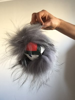 Key Chain multicolored fur