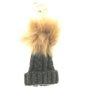 Schlüssel-/ Taschenanhänger coole Socke im grau, gold, khaki