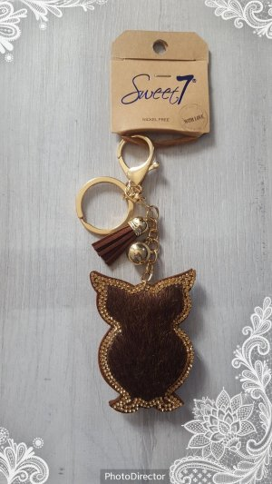 Porte-clés doré-brun
