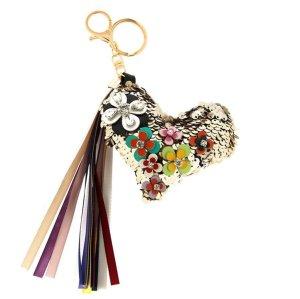 Schlüssel- /Taschenanhänger glitzer Herz mit tollen Details *NEU*