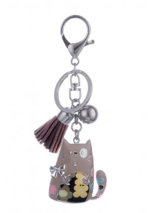 Key Chain silver-colored-light brown